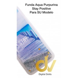 A9 2018 / A9 2019 SAMSUNG FUNDA Agua Purpurina STAY POSITIVE