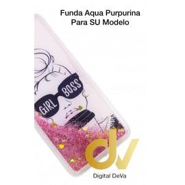 DV  J6 PLUS  SAMSUNG FUNDA AGUA  PURPURINA GIRL BOSS
