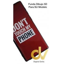 DV NOTE 10 SAMSUNG FUNDA DIBUJO RELIEVE 5D  DON'T TOUCH ROJO