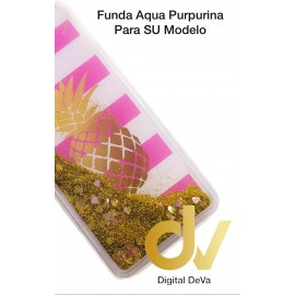 S10 SAMSUNG FUNDA Agua Purpurina PIÑA DORADA