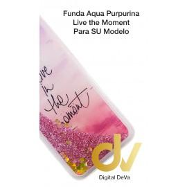 S10 SAMSUNG FUNDA Agua Purpurina LIVE THE MOMENT
