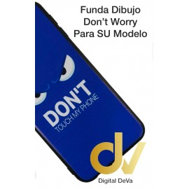 DV S10 SAMSUNG FUNDA DIBUJO RELIEVE 5D DON'T TOUCH AZUL