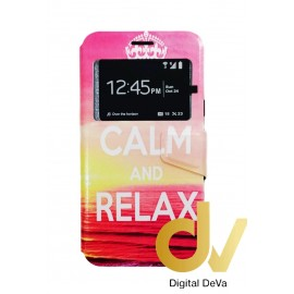 J7 2015 SAMSUNG Funda Libro Dibujo CALM AND RELAX