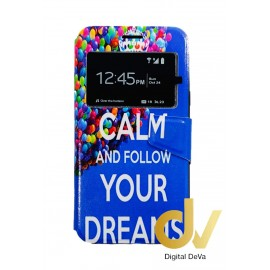 J7 2015 SAMSUNG Funda Libro Dibujo KEEP CALM