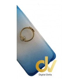 DV S6 EDGE SAMSUNG FUNDA DUAL COLOR CON ANILLO AZUL