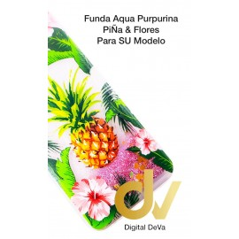 S10 Plus Samsung Funda Agua Purpurina PIÑA & FLORES