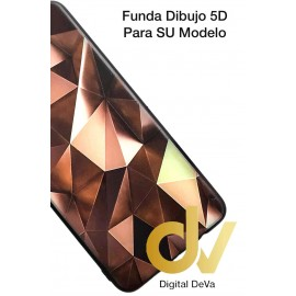 DV  A7 2018  SAMSUNG FUNDA DIBUJO RELIEVE 5D ROMBOS CAFE