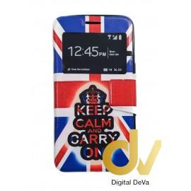 DV S6 EDGE  SAMSUNG  FUNDA LIBRO DIBUJO KEEP CALM...