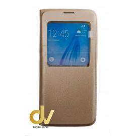 S8 Plus Samsung Funda Libro 1 Ventana Dorado