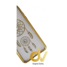 DV S8 PLUS SAMSUNG FUNDA MARCO SHINY STONES DORADO