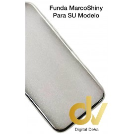 iPhone XS Max Funda Marco Shiny PLATA