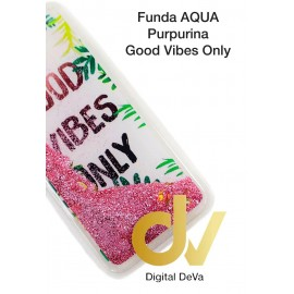 DV A40 SAMSUNG FUNDA AGUA PURPURINA GOOD VIBES ONLY