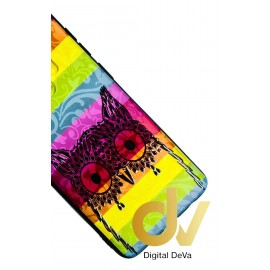 DV S9 SAMSUNG FUNDA DIBUJO RELIEVE 5D BUHO COLORES