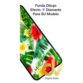 A10 Samsung Funda Diamond Cut Hojas Tropical