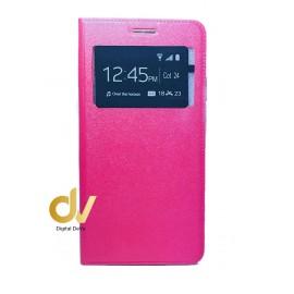A10 Samsung Funda Libro 1 Ventana Con Cierre Imantada Rosa