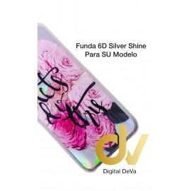 A11 Samsung Funda 6D Silver Shine Rosas