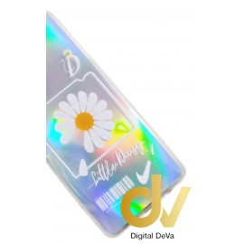 A01 SAMSUNG Funda 6D Silver Shine LITTLE DAISY