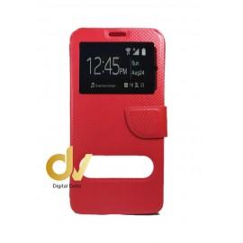 P9 Lite Huawei Funda Libro 2 Ventanas Rojo