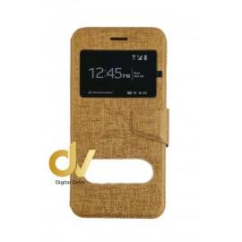 P9 Lite Huawei Funda Libro 2 Ventanas Dorado