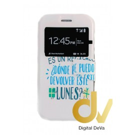 DV Y5 / Y560 HUAWEI FUNDA Libro Dibujo FLORES