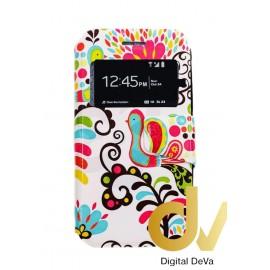 DV Y6 HUAWEI FUNDA Libro Dibujo FLORES