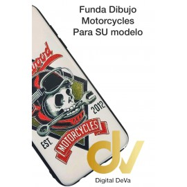 DV Y7 2018 HUAWEI FUNDA DIBUJO RELIEVE 5D MOTORCYCLES