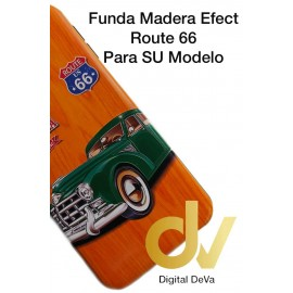 Mate 20 Lite Huawei Funda Madera Efect CAR TRAVEL