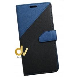 Y5 / Y6 2017 Huawei Funda Elegance 2 Tarjetas Azul