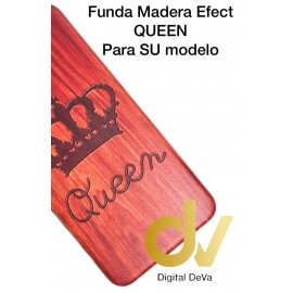 iPhone X / XS Funda Madera Efect QUEEN