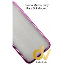 DV Note 9 SAMSUNG  FUNDA CROMADO Marco SHINY ROSA