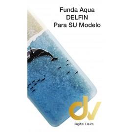 MATE 20 Lite HUAWEI FUNDA Agua Purpurina DELFIN