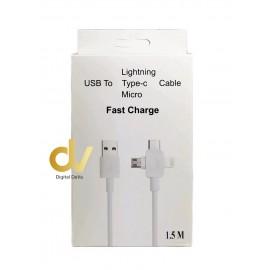 Cable USB 3en1 1.5mts