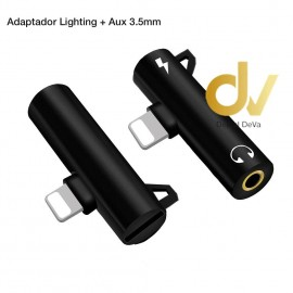Adaptador Lighting y  Aux Jack a Lighting