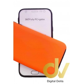 DV iPHONE 11 Pro MAX FUNDA PC 360 Doble Cara NARANJA