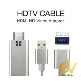 Cable HDMI 3 EN 1 + USB H