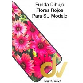 P40 Lite 5G Huawei Funda Dibujo Flores Rojas