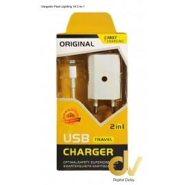 Cargador 6G Ligthing 1A Pack 2 EN 1