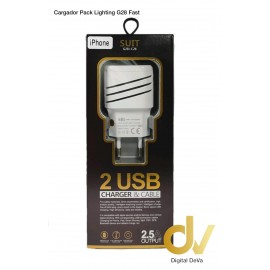 Cargador G28 Para iFone Lighting Qualcomm Fast Pack