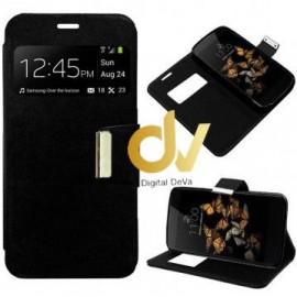 DV iPHONE 7Plus / 8Plus FUNDA LIBRO Con Cierre 1 VENTANA NEGRO