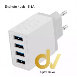 Cargador Enchufe 5.1A  4USB
