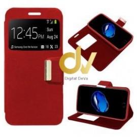 iPhone 7G / 8G FUNDA LIBRO con cierre 1 VENTANA ROJO
