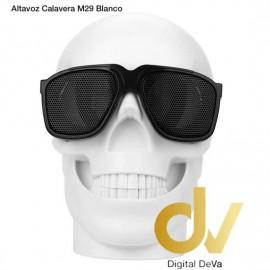 Altavoz Bluetooth Calavera M29  Blanco