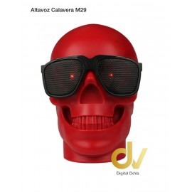 Altavoz Bluetooth Calavera M29  Rojo