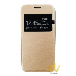 iPHONE 6 FUNDA LIBRO 1 Ventana SATINADA DORADO