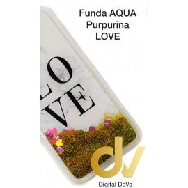 A20E SAMSUNG FUNDA Agua Purpurina LOVE