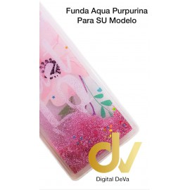 iPhone XR Funda Agua Purpurina LOVE