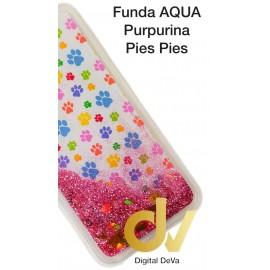 A50 SAMSUNG FUNDA Agua Purpurina PIES PIES
