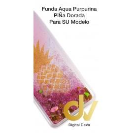 A50 SAMSUNG FUNDA Agua Purpurina PIÑA DORADO