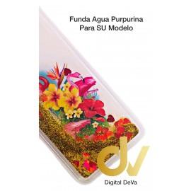 A40 SAMSUNG FUNDA Agua Purpurina FLAMENCOS