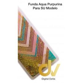 Mi A2 Lite / Redmi 6 Pro XIAOMI Funda Agua Purpurina RAYAS